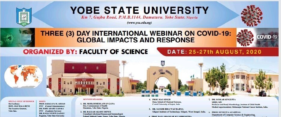 "3 Day International Webinar on ""COVID 19 Global Impacts and Response"""